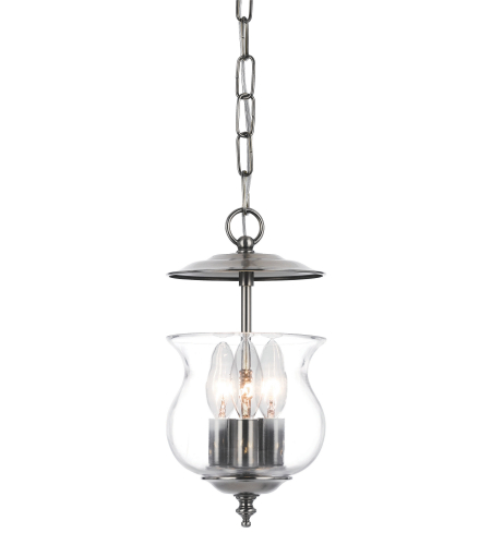 Crystorama 5717-PW Ascott 3 Light Lanterns in Pewter