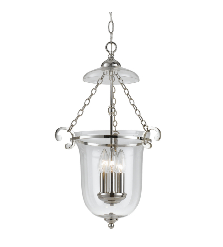 Crystorama 5762-PN Pendant 2 Light Pendant in Polished Nickel