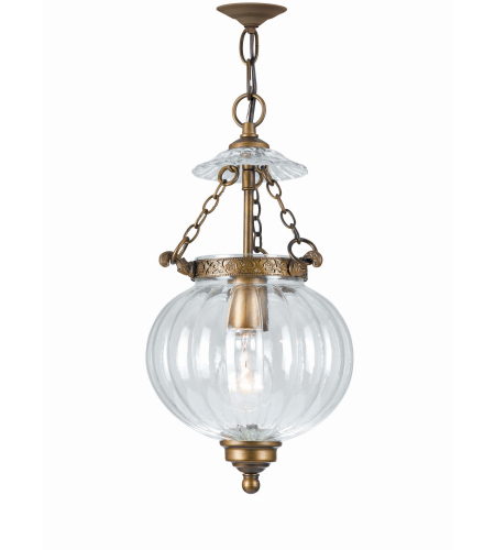 Crystorama 5781-AB Pendant 1 Light Pendant in Antique Brass