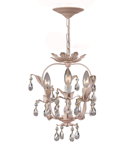 Crystorama 5823-BH Paris Market 3 Light Mini Chandeliers in Blush
