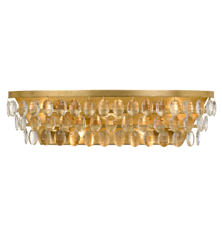 Crystorama 6105-Ga Perla 5 Light Bathroom Vanity In Antique Gold