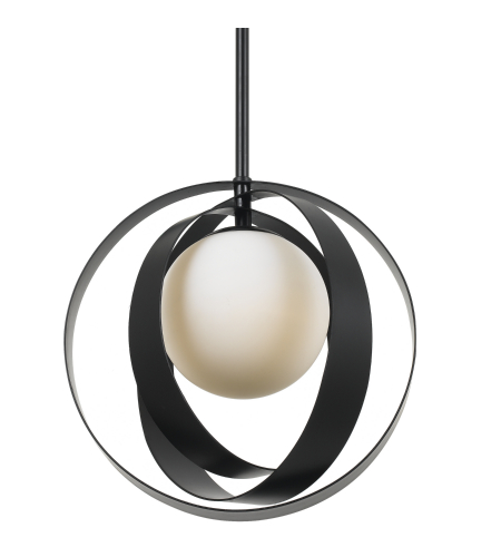 Crystorama 6461-Mk Arlo 1 Light Mini Chandelier In Matte Black