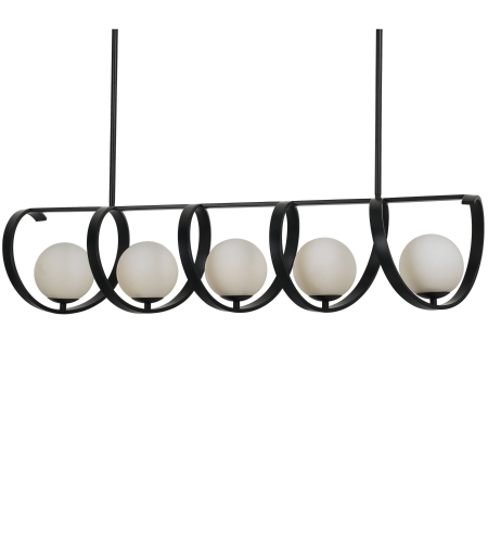 Crystorama 6465-Mk Arlo 5 Light Chandelier In Matte Black