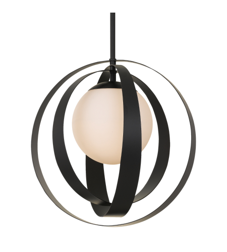 Crystorama 6467-Mk Arlo 1 Light Chandelier In Matte Black