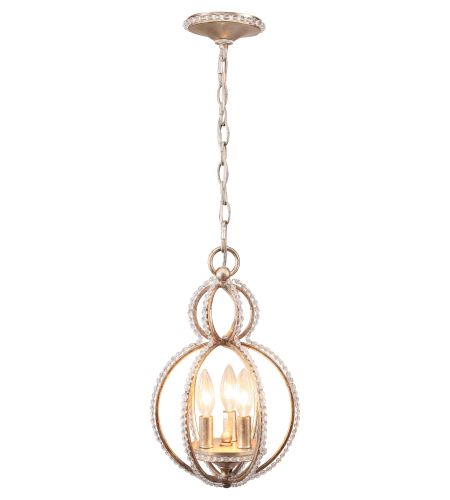 Crystorama 6760-DT Garland 3 Light Mini Chandeliers in Distressed Twilight