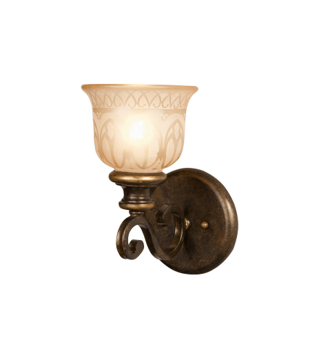 Crystorama 7401-BU Norwalk 1 Light Sconce in Bronze Umber