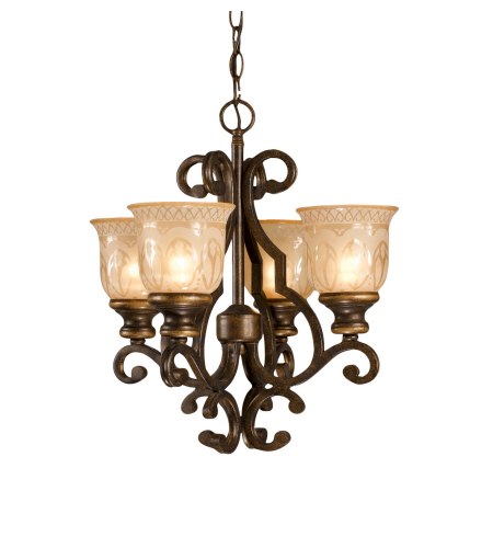 Crystorama 7404-BU Norwalk 4 Light Mini Chandeliers in Bronze Umber