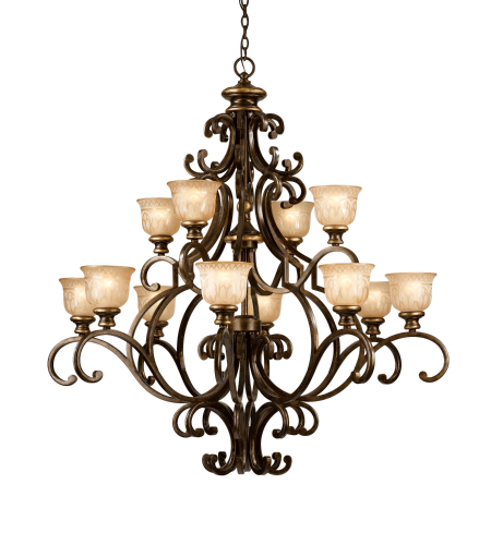 Crystorama 7412-BU Norwalk 12 Light Chandelier in Bronze Umber