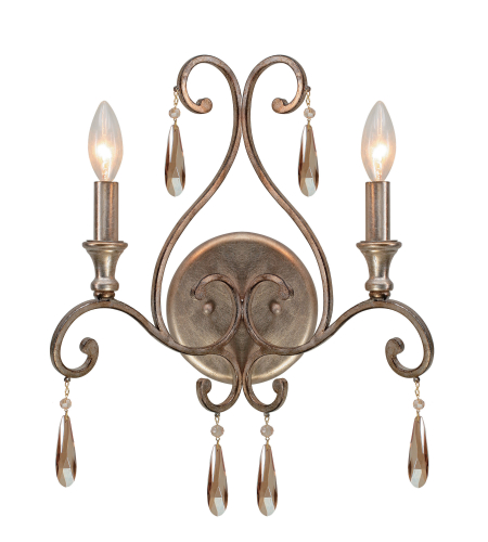 Crystorama 7522-DT Shelby 2 Light Sconce in Distressed Twilight