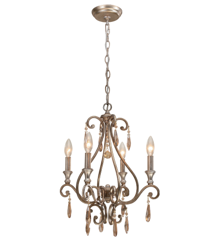 Crystorama 7524-DT Shelby 4 Light Mini Chandeliers in Distressed Twilight