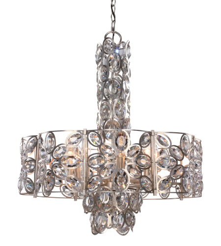 Crystorama 7588-DT Sterling 8 Light Chandelier in Distressed Twilight