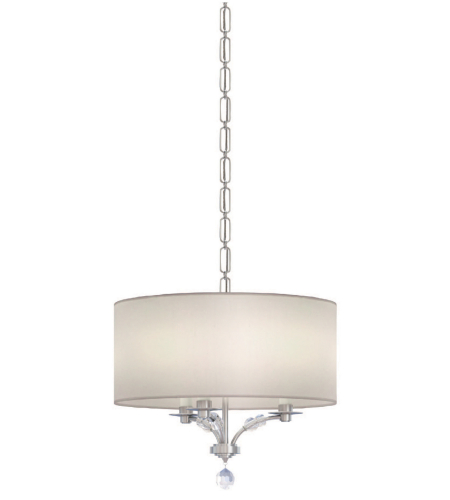 Crystorama 8005-PN Mirage 3 Light Mini Chandeliers in Polished Nickel