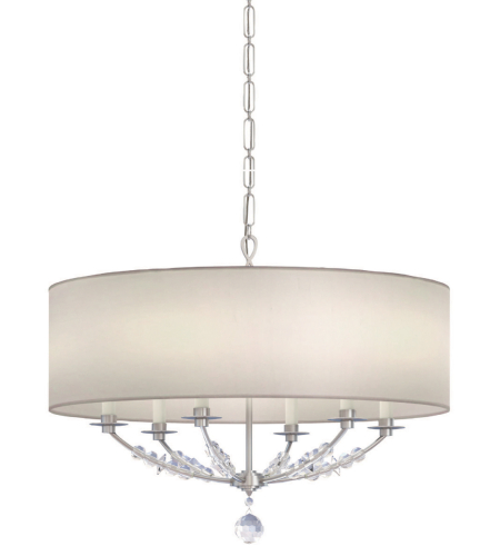 Crystorama 8006-PN Mirage 6 Light Chandelier in Polished Nickel