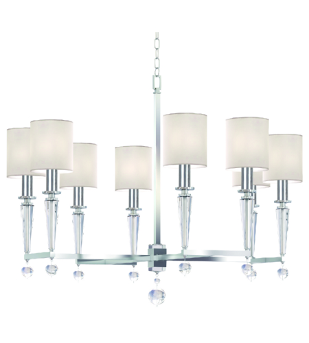 Crystorama 8108-PN Paxton 8 Light Chandelier in Polished Nickel