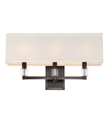 Crystorama 8883-Or Dixon 3 Light Bathroom Vanity In Oil Rubbed Bronze