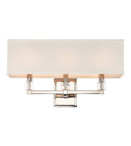 Crystorama 8883-Pn Dixon 3 Light Bathroom Vanity In Polished Nickel
