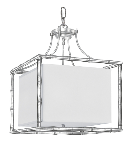 Crystorama 9015-SA Masefield 4 Light Chandelier in Antique Silver