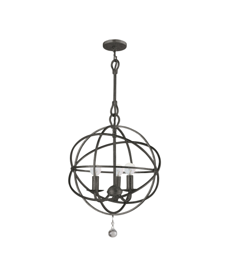 Crystorama 9225-EB Solaris 3 Light Mini Chandeliers in English Bronze