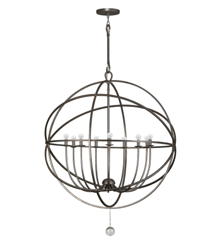 Crystorama 9229-EB Solaris 9 Light Chandelier in English Bronze