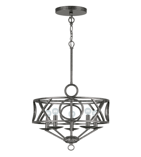 Crystorama 9245-EB Odette 5 Light Mini Chandeliers in English Bronze