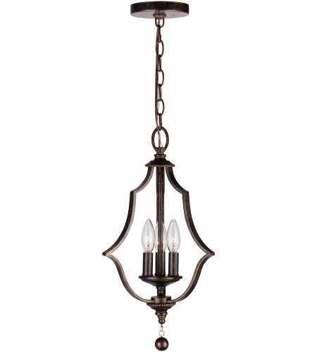 Crystorama 9350-Eb Parson 3 Light Mini Chandelier In English Bronze