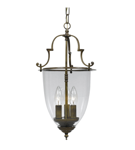Crystorama 973-AU Pendant 3 Light Lanterns in Autumn Brass