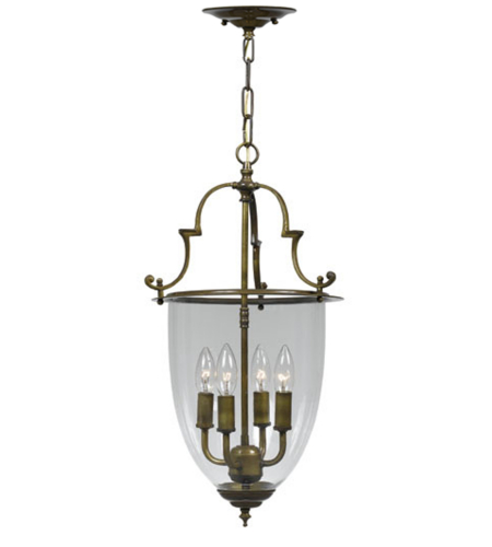 Crystorama 974-AU Pendant 4 Light Lanterns in Autumn Brass