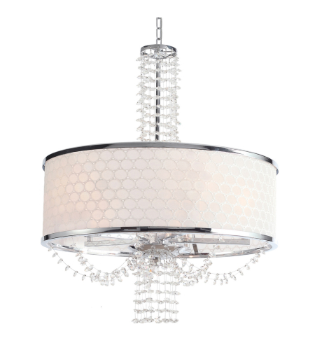 Crystorama 9805-CH Allure 5 Light Chandelier in Chrome