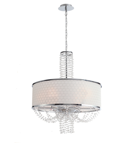 Crystorama 9806-CH Allure 6 Light Chandelier in Chrome