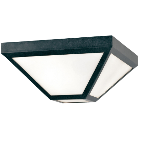 Crystorama Gla-9703-Op-Bc Glacier 2 Light Outdoor Ceiling Mount In Black Charcoal