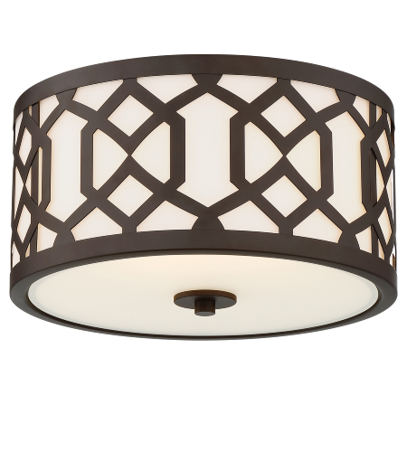 Crystorama Jen-2203-Db Jennings 3 Light Outdoor Ceiling Mount In Dark Bronze