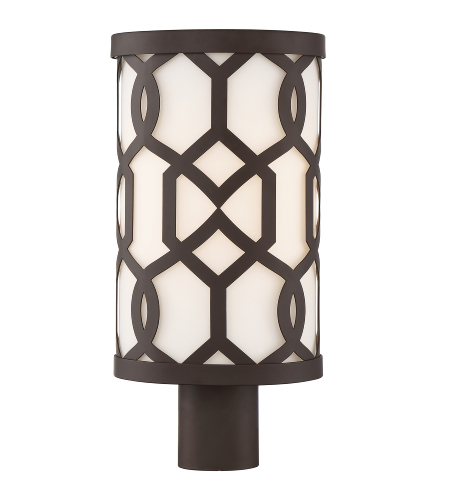 Crystorama Jen-2207-Db Jennings 1 Light Outdoor Lantern Post In Dark Bronze