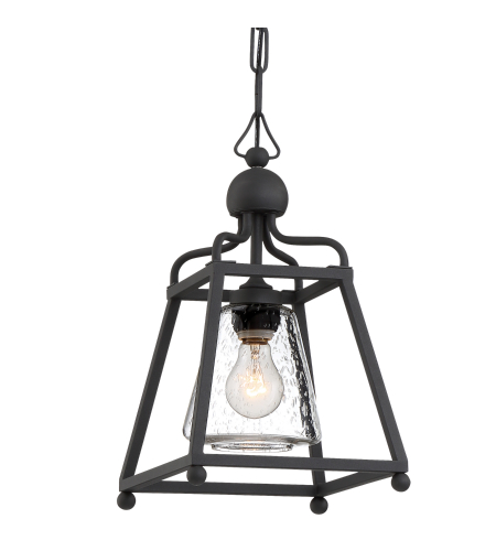 Crystorama Syl-2280-Sd-Bf Sylvan 1 Light Outdoor Pendant In Black Forged