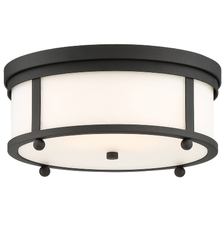 Crystorama Syl-2283-Op-Bf Sylvan 3 Light Outdoor Ceiling Mount In Black Forged