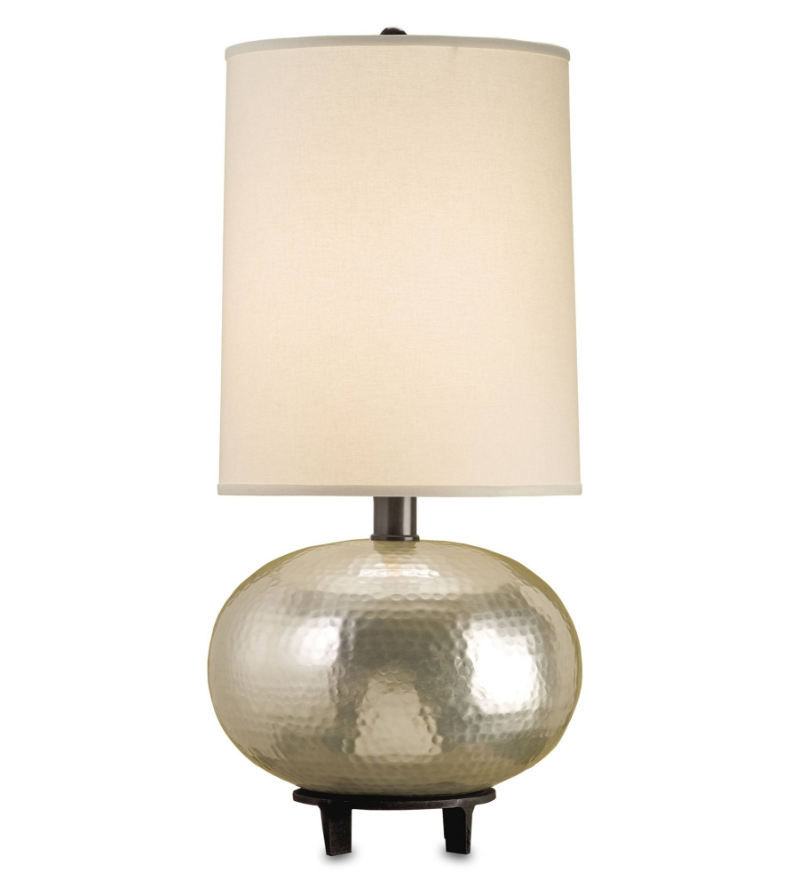 currey and company 6386 luna table lamp in hammered silver. Black Bedroom Furniture Sets. Home Design Ideas