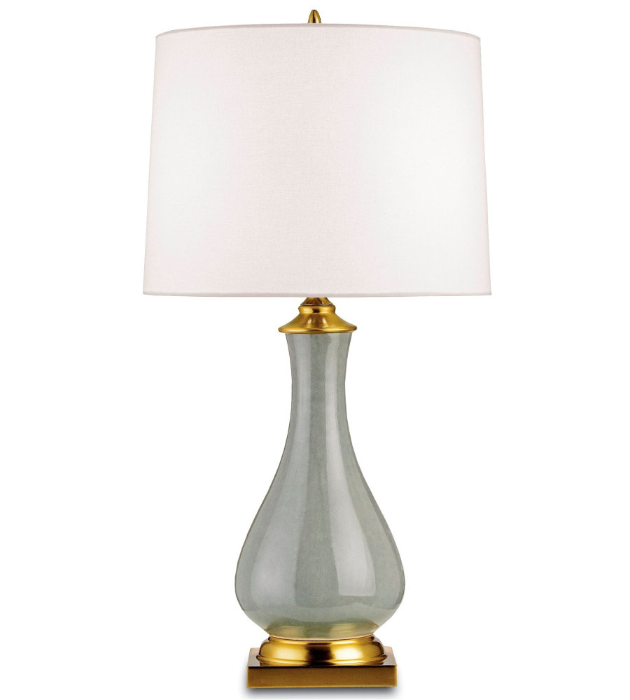 Currey Company Com: Currey & Company 6419 Lynton Table Lamp In Gray Crackle