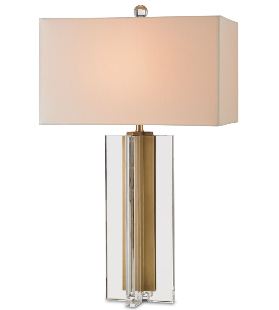 Currey Company Com: Currey & Company 6732 Skye Table Lamp In Clear/Brass
