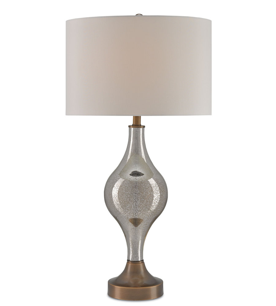 Currey And Company 6889 Tara Table Lamp In Gold Mercury Glass Coffee Bronze