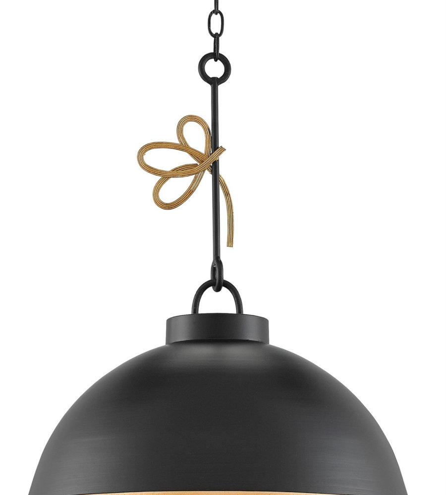 Currey And Company 9000-0151 Hannari Pendant In Satin
