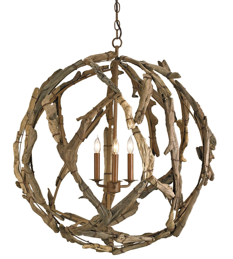 Currey And Company Orb Chandelier: Currey & Company 9078 Driftwood Orb Chandelier In Natural