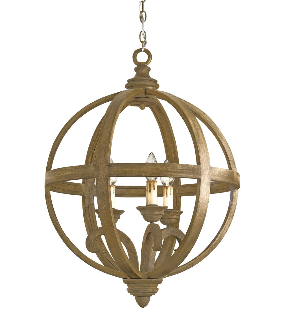 Currey & Company 9133 Axel Orb Chandelier, Small In
