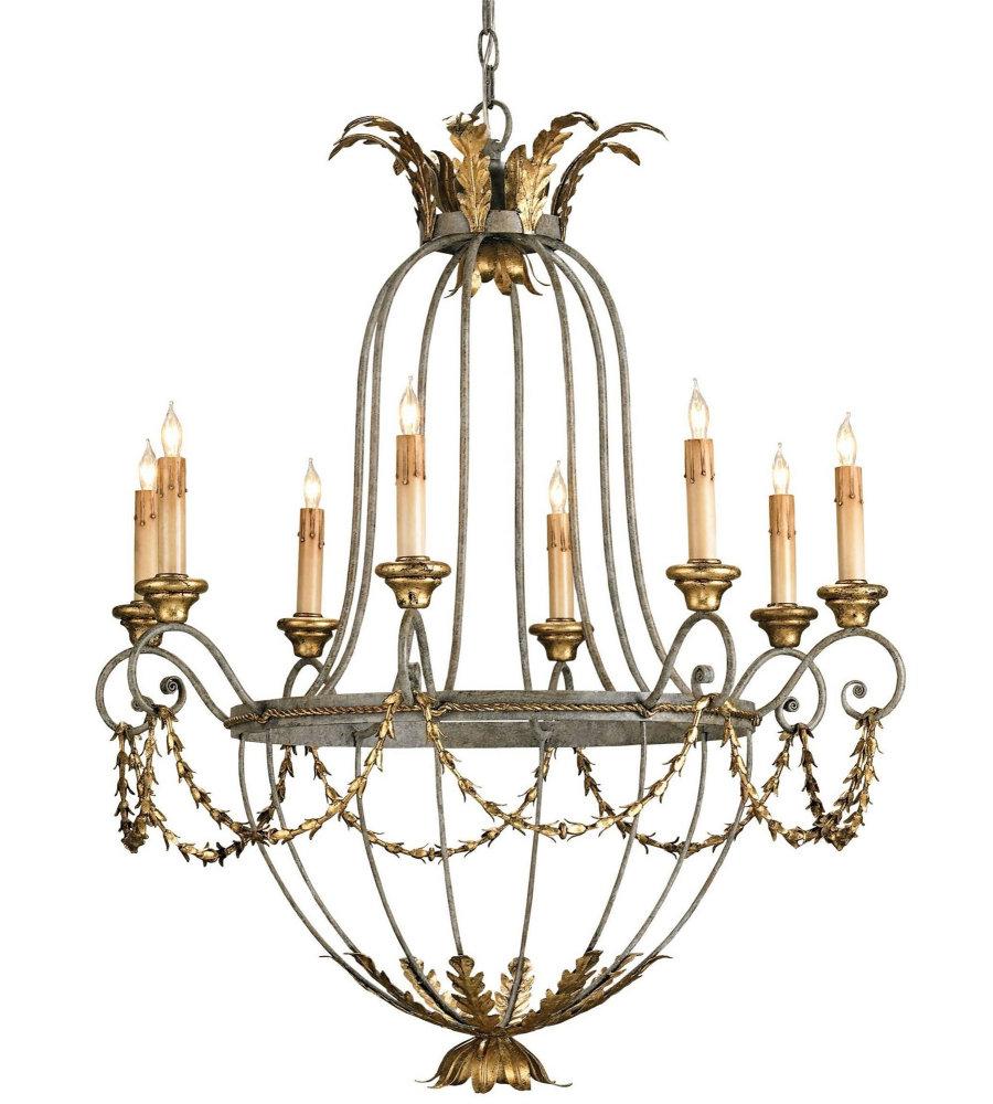 Currey Company Com: Currey & Company 9948 Elegance Chandelier In Etruscan/Gold