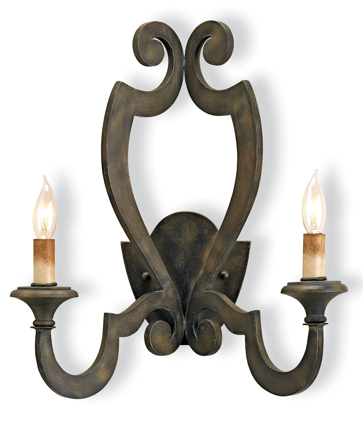 Currey Company 5012 Retrospect Wall Sconce In Bronze Verdigris