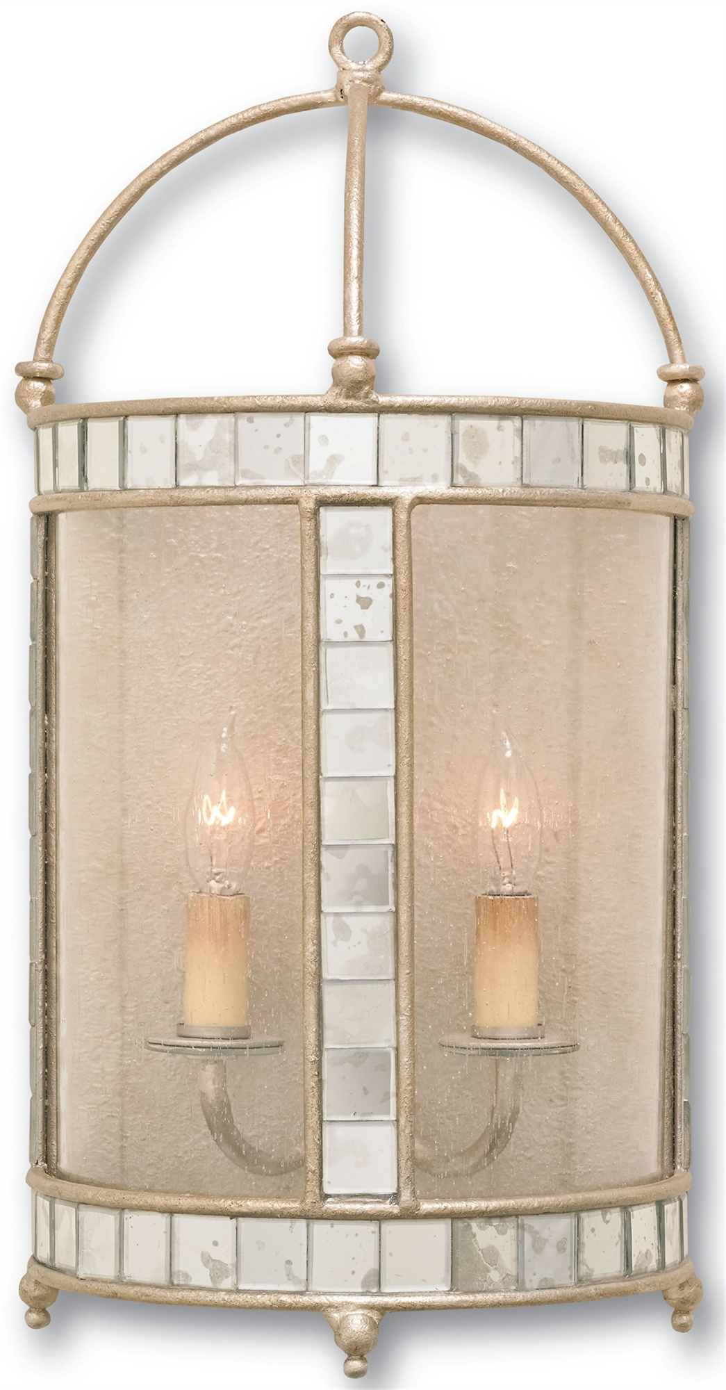 Currey company 5032 corsica wall sconce in harlow silver leaf general information arubaitofo Image collections
