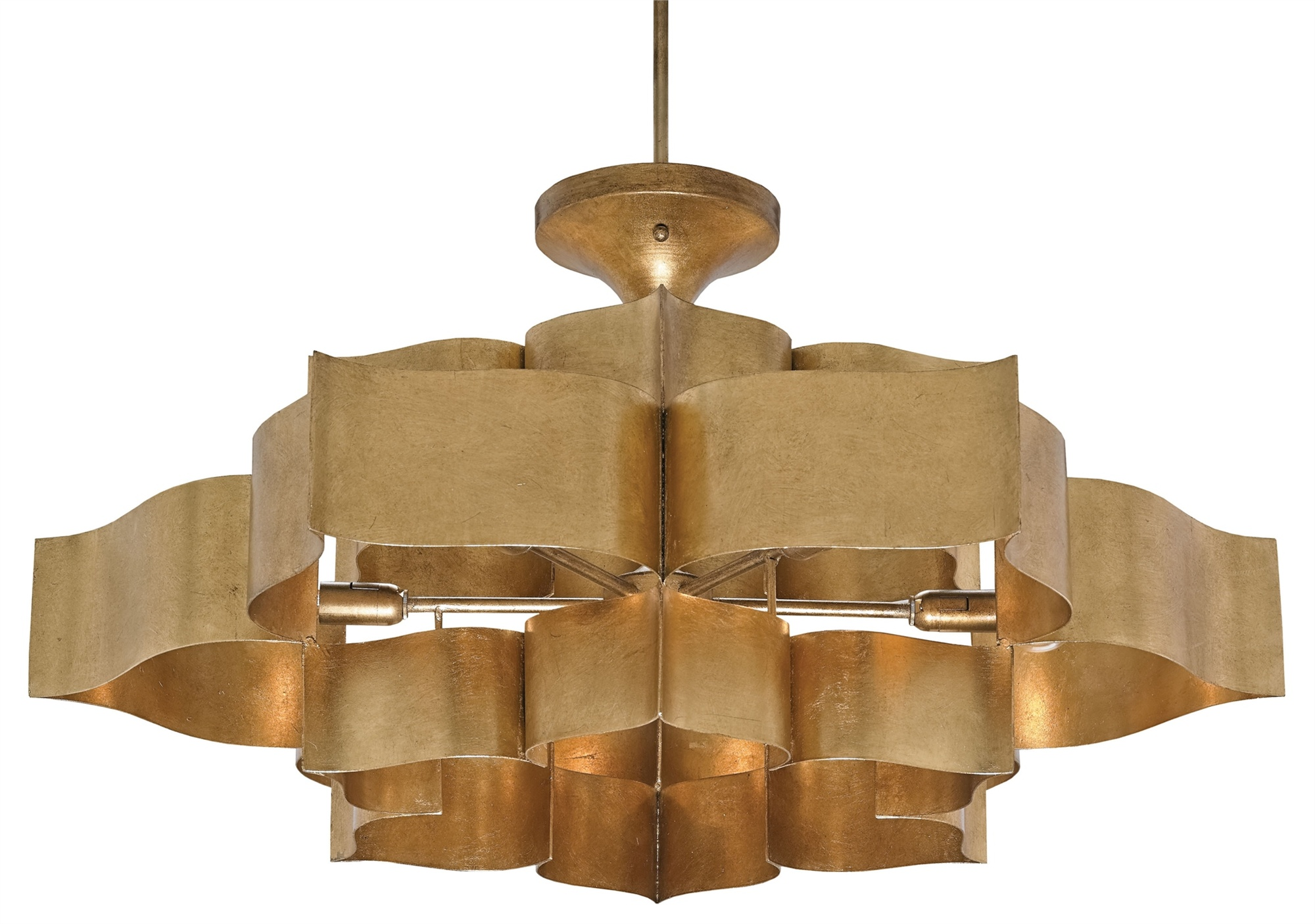 Currey And pany 9494 6 Light Grand Lotus Chandelier In Antique
