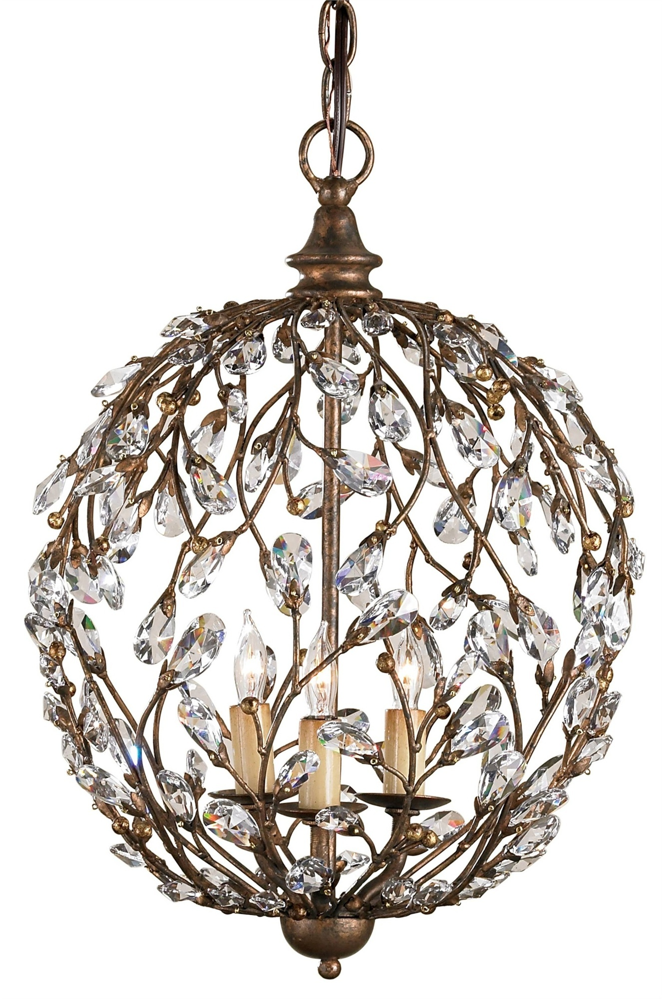 Currey & Company 9652 Crystal Bud Sphere Chandelier In Cupertino ...