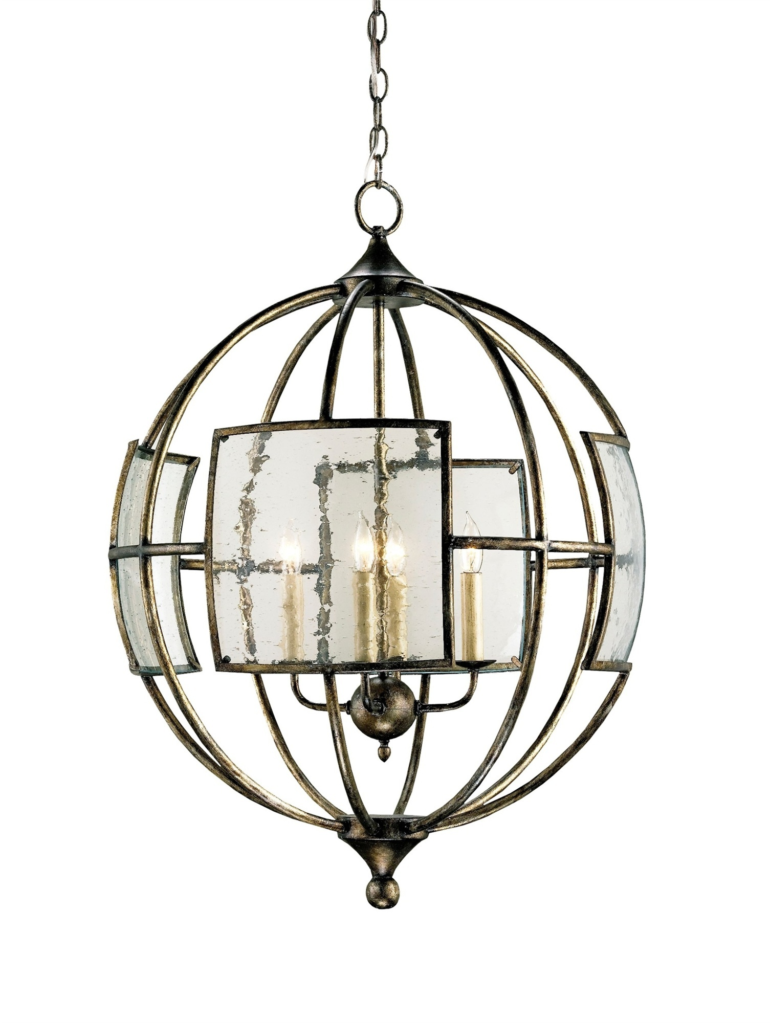 Currey Company 9750 Broxton Orb Chandelier In Pyrite Bronze