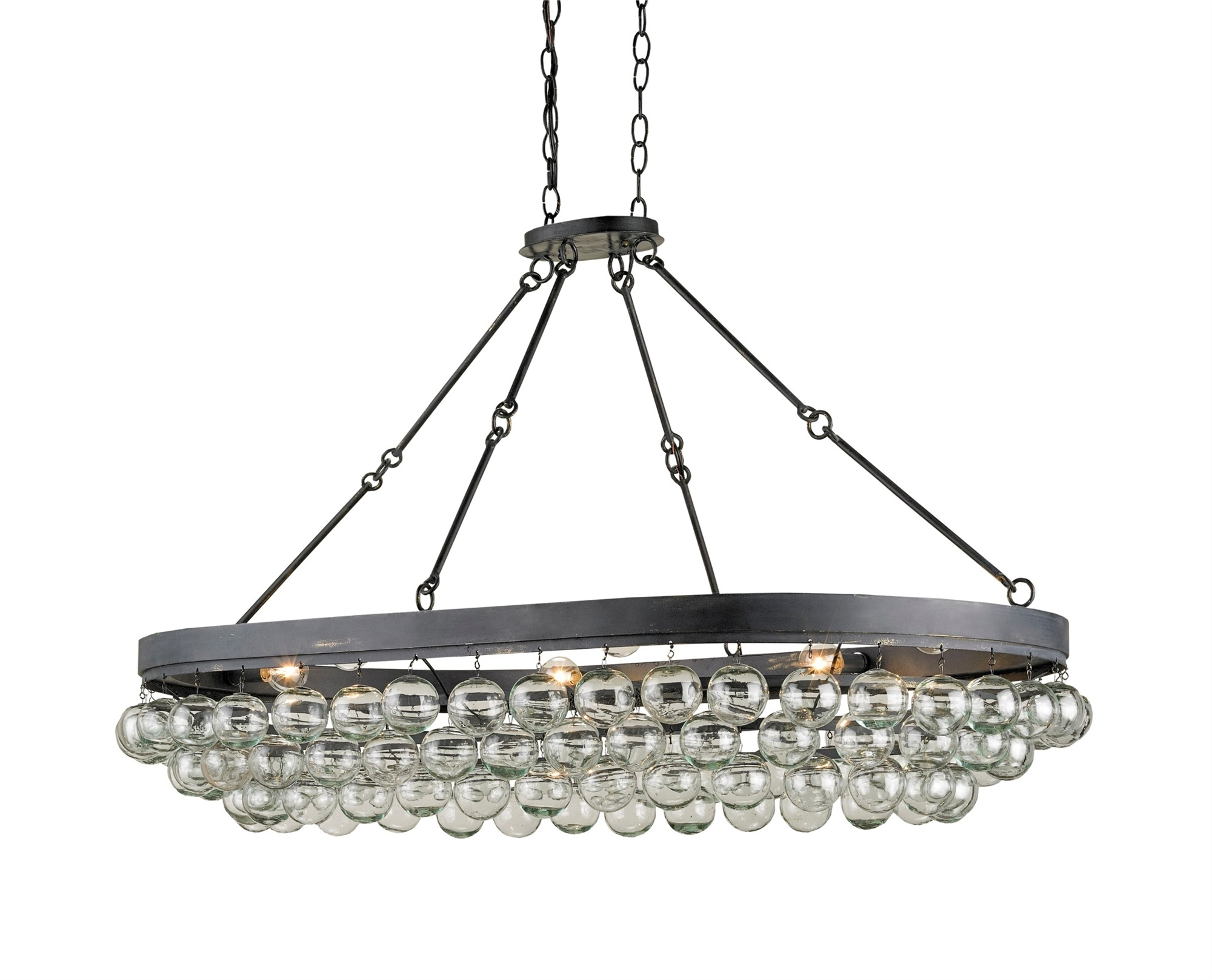 Currey & Company 9888 Balthazar Oval Ceiling Mount In French Black ...