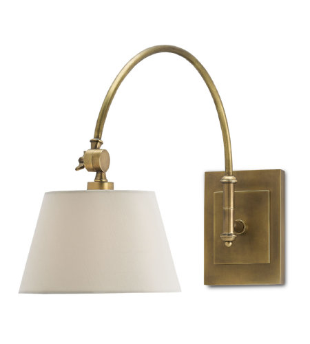Currey And Company 5000-0003 Ashby Swing-Arm Sconce In Antique Brass