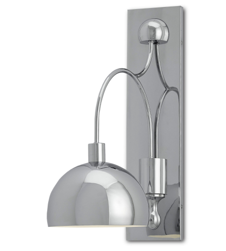 Currey And Company 5000-0007 1 Light Gambol Wall Sconce In Chrome